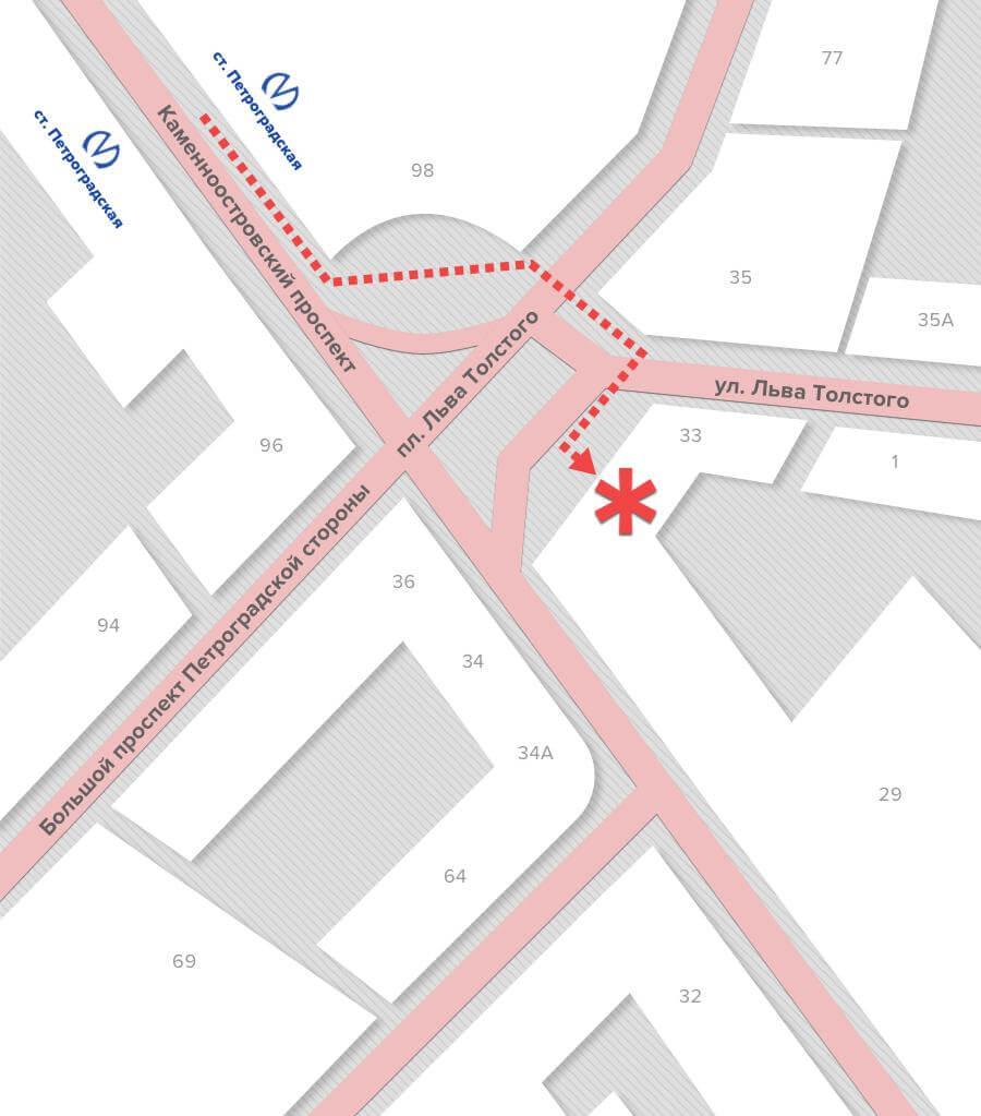 карта проезда, высокое разрешение